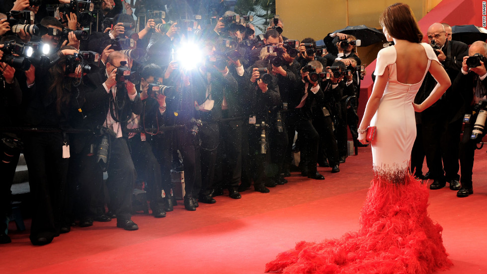 Singer Cheryl Cole walks the red carpet at the Cannes Film Festival on Sunday, May 20. The annual event runs from May 16 to May 27.