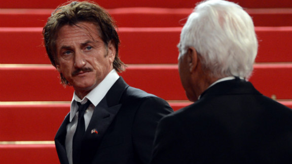 """Sean Penn arrives for the screening of """"Reality"""" on Friday, May 18. The Italian film was directed by Matteo Garrone."""