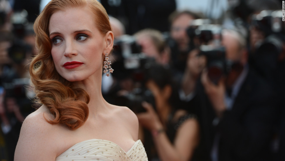 "Actress Jessica Chastain attends the screening of ""Madagascar 3: Europe's Most Wanted."" She does the voice of Gia the Jaguar."