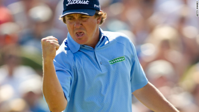 American golfer Jason Dufner rose to a career-high 14th in the world rankings after winning the HP Byron Nelson Championship.