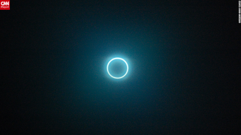 CNN iReporter Scott Brown captured the solar eclipse from Albuquerque , New Mexico.