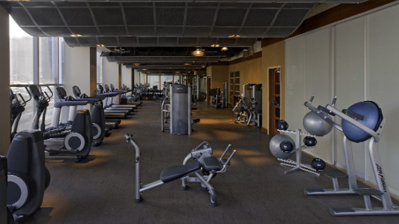 The on-site gym, meanwhile, makes exercising before a long day
