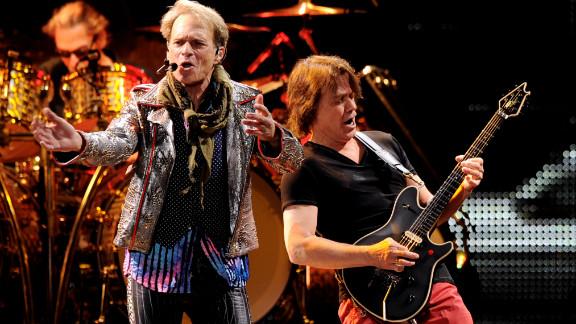 David Lee Roth, left, and Eddie Van Halen perform in 2012.