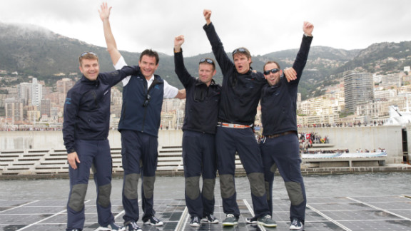 "It took the crew 585 days to sail around the world. The ""Turanor"" already held the Guinness World Record for the world"