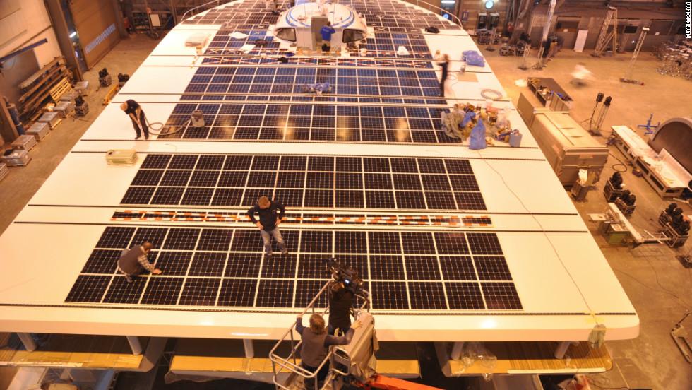 $16m solar boat sails into record books - CNN