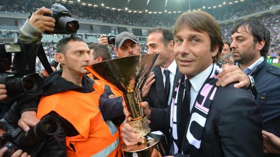 Juventus coach Antonio Conte,  a former fans