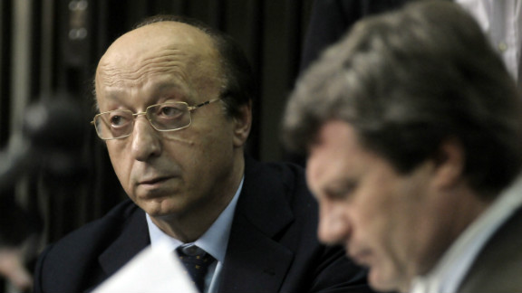 Former Juventus managing director Luciano Moggi gives testimony at a hearing into the match-fixing scandal. He was banned for life while the club lost two Serie A titles and was relegated to Serie B.