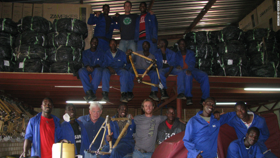 Zambikes, which employs some 40 people, is a joint venture between two Americans and two Zambians.