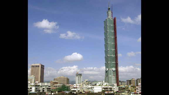 Completed in 2004, Taipei 101 has an architectural height of 1,667 feet (508 meters) and is occupied to a height of 1,437 feet (438 meters).