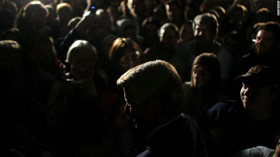 Edwards greets supporters in New Hampshire in January 2008.