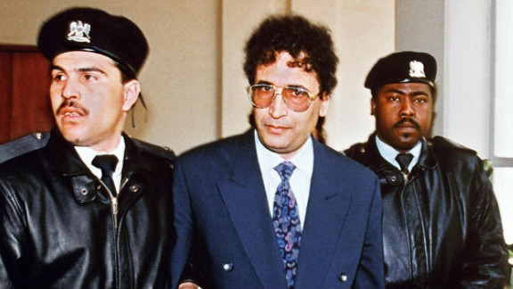 Al Megrahi, pictured in Tripoli in 1992,  was not convicted until 2001.