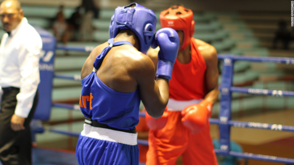 Cuban fighters square off at a regional boxing tournament. A victory here could lead to a selection for the country's national team and the possibility of representing Cuba at the Olympics.