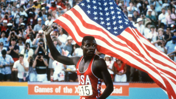 The story began long before that fateful day in 1988. It's 1984 and the Olympics -- blighted by boycotts, incompetence and financial ruin -- are on the verge being consigned to the dustbin of history. But before the Los Angeles Olympics an All American hero emerged: Carl Lewis.