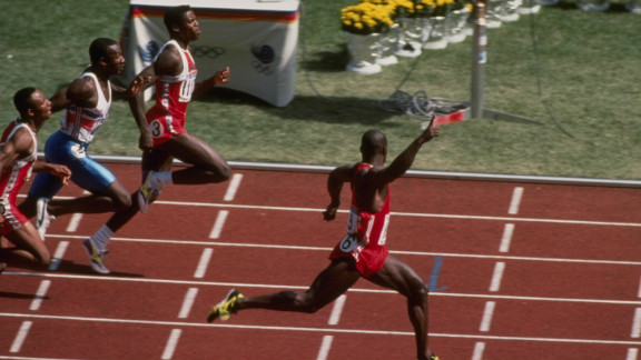 Ben Johnson smashed his own world record with a run of 9.79 seconds. He had blown Lewis, and the rest of the field, away. After his victory Johnson claimed he could have run even quicker if he had not triumphantly raised his right arm before crossing the finishing line.