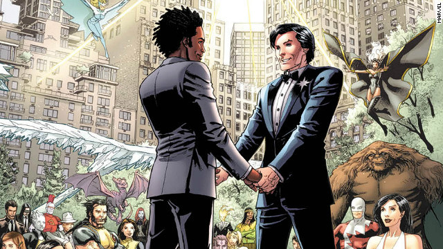 Northstar popped the question in 2012's Astonishing X-Men No. 50.