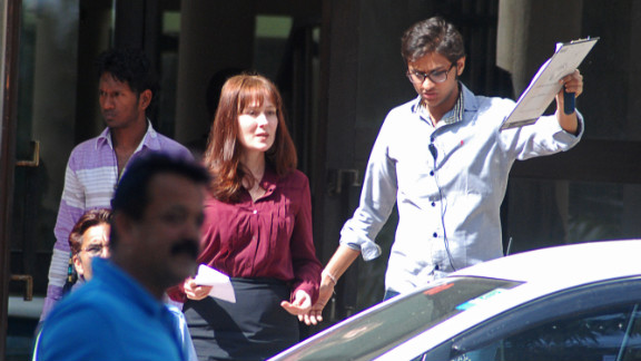 Actress Jennifer Ehle is seen on the Chandigarh, India, set of Kathryn Bigelow