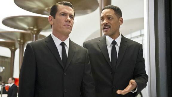 "Josh Brolin (left) and Will Smith star in ""Men in Black 3."""