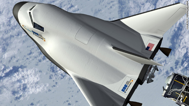 The Sierra Nevada Corp. Dream Chaser is designed to rocket into into orbit and fly back to Earth.