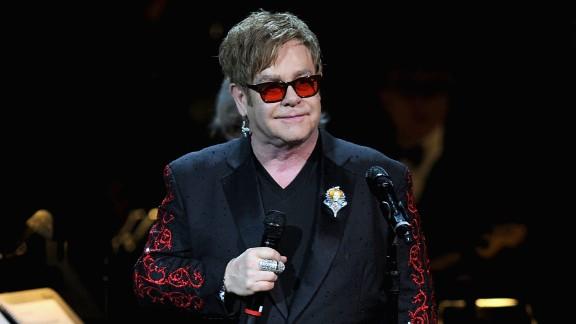 Singer Elton John became ill while performing.