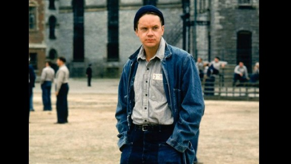 """The Shawshank Redemption"": Stephen King's novella ""Rita Hayworth and Shawshank Redemption"" appears in his 1982 collection ""Different Seasons."" It's about a wrongly convicted banker who slyly figures out a way to escape from prison. Tim Robbins (pictured) plays the banker in the 1994 film; Morgan Freeman plays his convict friend, Red."