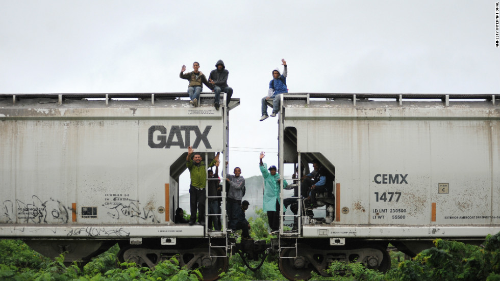 Central American migrants travel through Mexico in July 2011 on their way to the U.S. border, hoping for a new life.