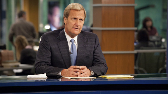 "Jeff Daniels plays a cable news anchor on ""Newsroom,"" created by Aaron Sorkin."