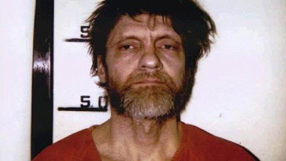 Unabomber Ted Kaczynski mugshot in April 1996.