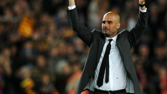 Pep Guardiola waved goodbye to Barcelona on Friday in the only way he knows how -- by winning a trophy. The club