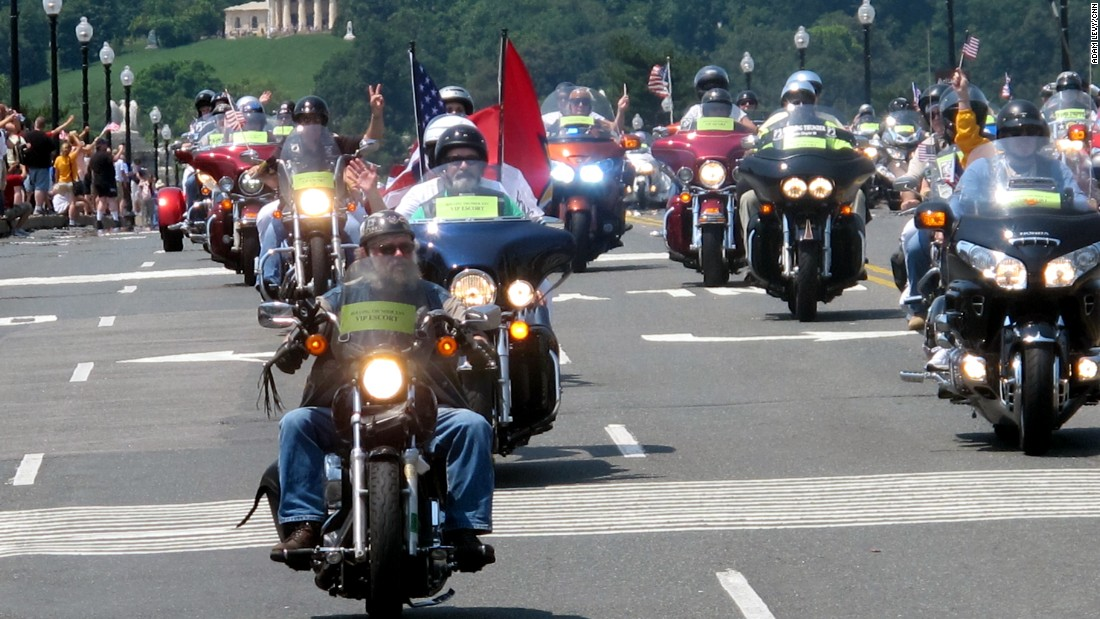 Trump says Rolling Thunder ride will return to DC, organizers say not so fast