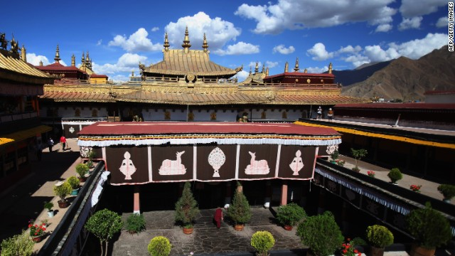 File photo of the Jokhang Temple on June 18, 2009 in Lhasa, Tibet.