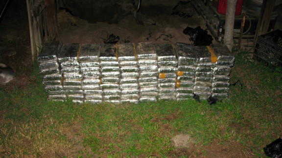In August 2011, the DEA uncovered 90 kilograms of cocaine buried under a barn in rural Robeson County, North Carolina.