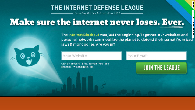 The Internet Defense League aims to mobilize the Web on legislative issues.
