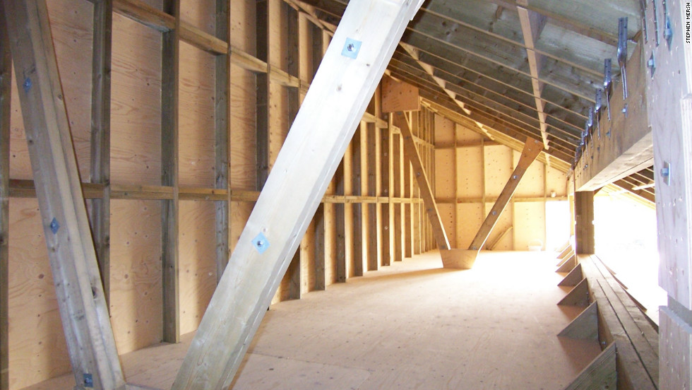 The Interior Of Attic Was Constructed In Accordance With English Legislation Which Protects Bats