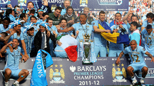 Manchester City's big spending paid off with the club's first English title in 44 years.