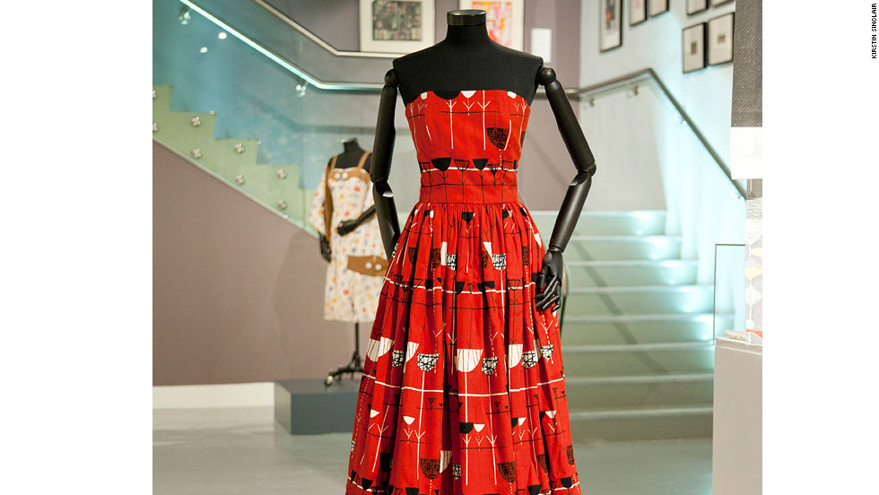 Strong color emerged from the austerity of the the post-war era -- as this exhibit from the London Fashion and Textile Museum demonstrates.