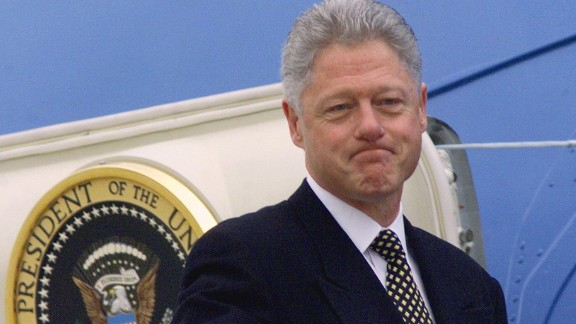 """Bill Clinton, who was impeached in 1998 and then acquitted by the Senate, narrowly denied having """"sexual relations with that woman,"""" former intern Monica Lewinsky."""