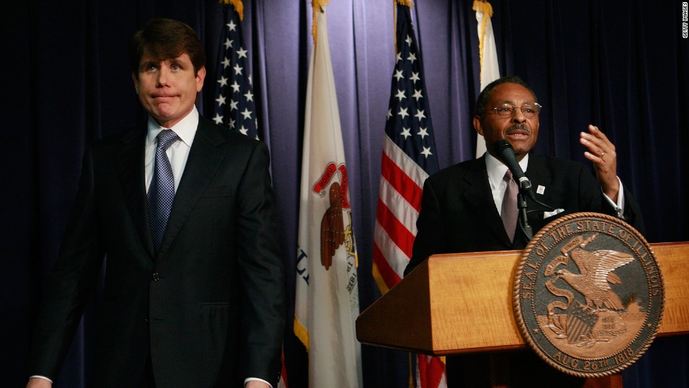 "<strong>Rod Blagojevich,</strong> the one-time Illinois governor who was convicted of political corruption charges, left, denied he tried to sell a vacant U.S. Senate seat once held by Barack Obama: ""I will fight until I take my last breath. <a href=""http://www.cnn.com/2008/POLITICS/12/19/blagojevich.speaks/index.html?_s=PM:POLITICS"">I have done nothing wrong</a>."""