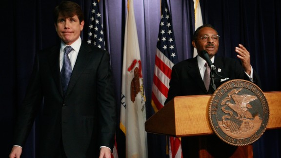 """Rod Blagojevich, the one-time Illinois governor who was convicted of political corruption charges, left, denied he tried to sell a vacant U.S. Senate seat once held by Barack Obama: """"I will fight until I take my last breath. I have done nothing wrong."""""""