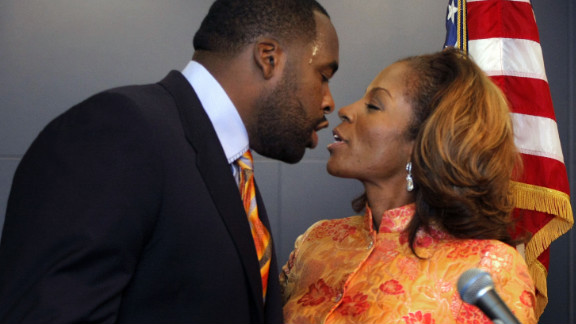"""Kwame Kilpatrick is the former Detroit mayor who pleaded guilty to obstruction of justice after investigators showed text messages between him and his mistress involving sex that he said never happened. In response to her text about whether he missed her sexually, he replied: """"Hell yeah! You couldn't tell. I want some more."""" In October 2013, Kilpatrick was sentenced to 28 years in prison after his conviction on two dozen federal charges, including racketeering, extortion and the filing of false tax returns."""