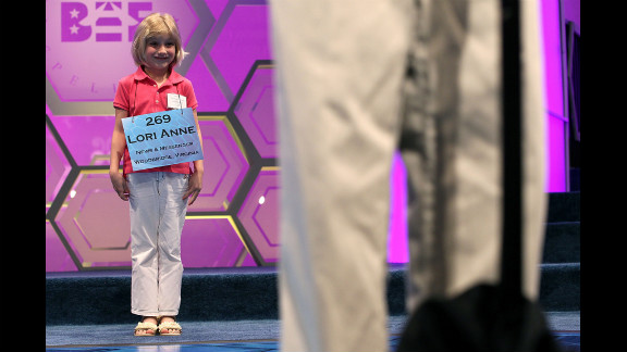 Six-year-old Lori Anne Madison was the youngest participant at the 2012 Scripps National Spelling Bee.