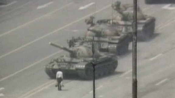 "This banned image of Tiananmen's ""tank man"" shocked audiences when it appeared in a Cirque du Soleil performance in Beijing."