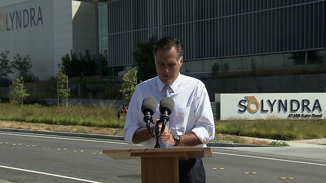 Romney blasts Obama's choice at Solyndra
