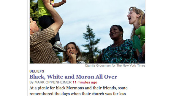 This headline from The New York Times shows what a difference a copy editor can make.