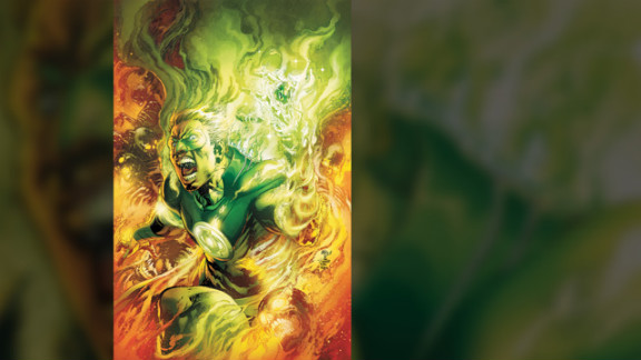 """In DC Comics' """"Earth Two"""" issue two, Alan Scott, the first Green Lantern, is reintroduced as a gay man."""