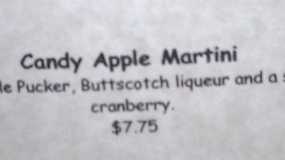 This drink was on the menu at a Phoenix restaurant.