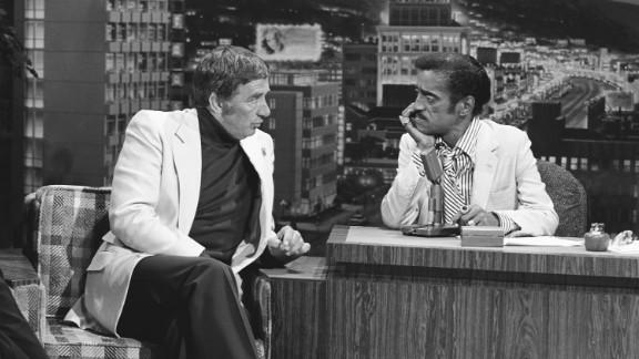 "Dawson on ""the Tonight Show"" with guest host Sammy Davis Jr. in 1979."