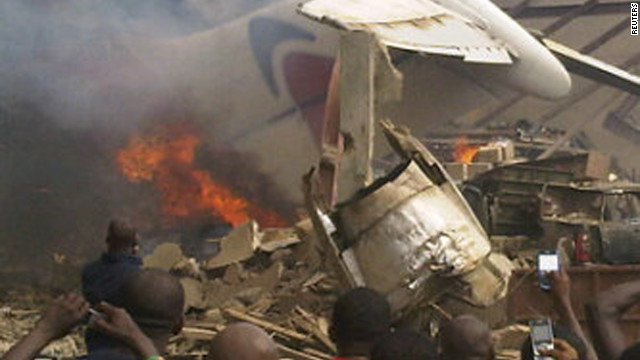 Airliner goes down in Lagos, Nigeria