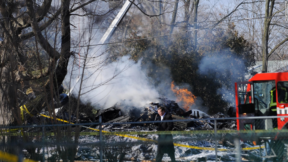 Colgan Air Flight 3407 (a connector  operating with Continental Airlines) crashed into a house outside Buffalo, New York, on February 13, 2009, killing all 49 aboard the plane and one on the ground.
