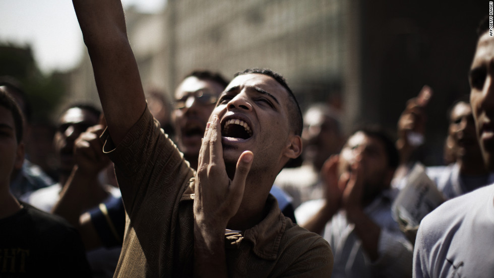 Many Egyptians are also angered over the acquittal of six of Mubarak's security officers.