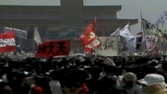 1989: Tiananmen Square protests